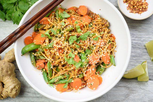 Fresh Cilantro Gluten-Free Soba Noodles Recipe