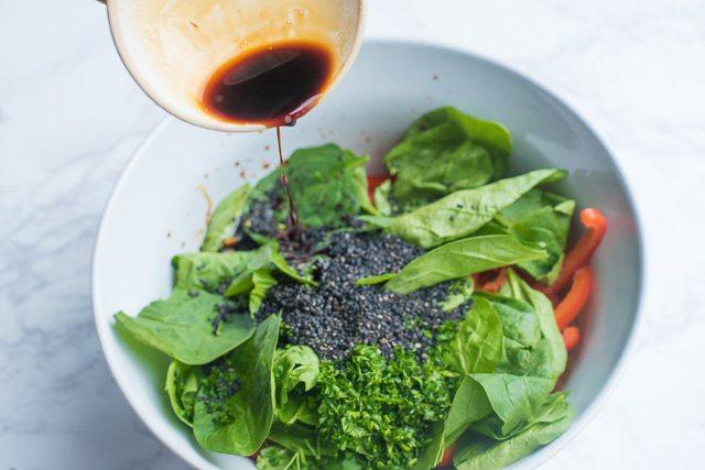 Mixed Veggie and Kelp Noodle Salad