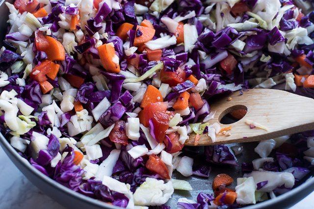 Savory Green & Red Cabbage Stir-Fry